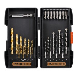 Black and Decker - 27 Piece Mixed Case with Tin Bits - A7177