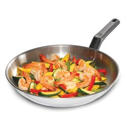 Black And Decker - Durable 12inch Stainless Steel Fry Pan PFOA and PTFE Free 83382 - 83382
