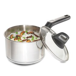 Black And Decker - Durable 2quart Stainless Steel Sauce with Glass Cover PFOA and PTFE Free - 83383