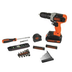 Black and Decker - 20V MAX Cordless DrillDriver  44 Piece Project Kit - BCD70250PK