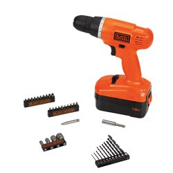 Black and Decker - 18V Cordless DrillDriver  35Piece Project Kit - GC180135PK
