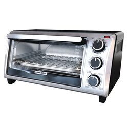 Black and Decker - 4Slice Toaster Oven - TO1303SB