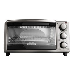 Black and Decker - 4Slice Countertop Toaster Oven - TO1373SSD