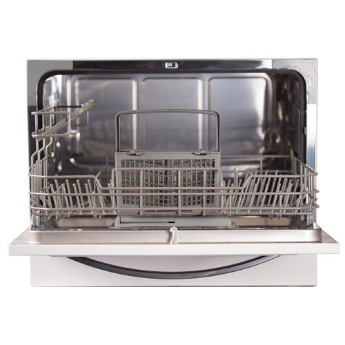 Black and Decker - 6 Place Setting Compact Countertop Dishwasher - BCD6W
