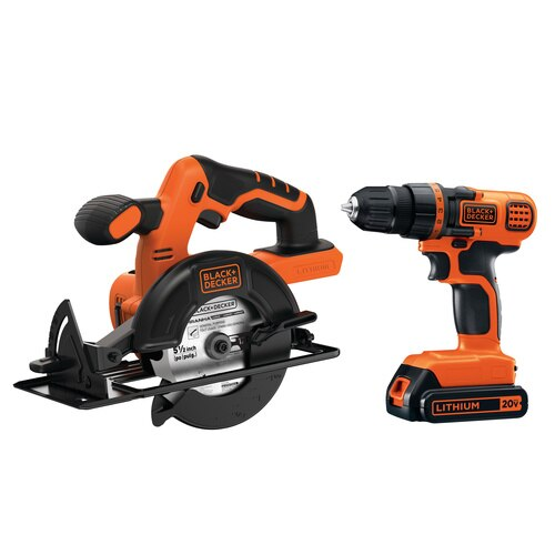 Black and Decker - 20V MAX Lithium Ion DrillDriver  Circular Saw Combo Kit - BD2KITCDDCS