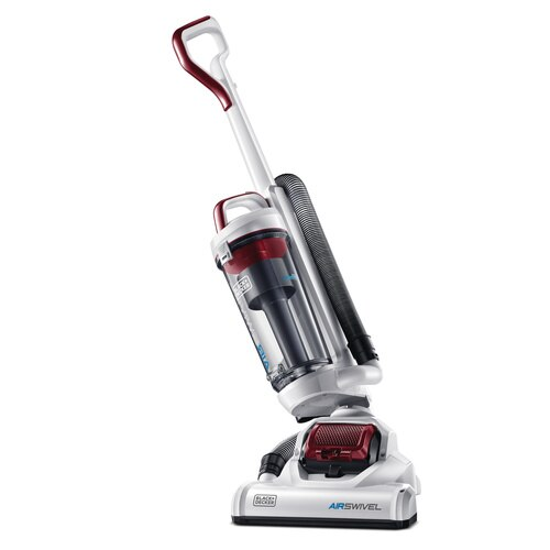 Black and Decker - AIRSWIVEL Ultra light weight Upright Vacuum Cleaner Lite Red - BDASL104