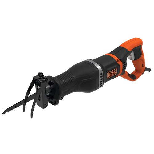Black and Decker - 7 Amp Reciprocating Saw with Removeable Branch Holder - BES301K
