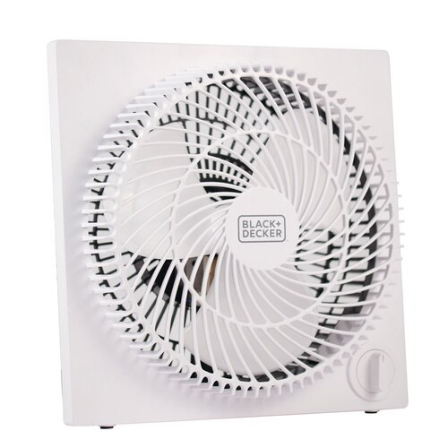 Black and Decker - 9 In Frameless Tabletop Box Fan - BFB09W