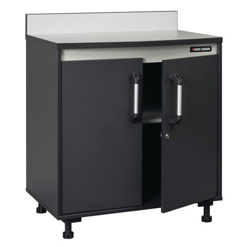 Black and Decker - Base Cabinet with Work Surface Charcoal Stipple - BG103115K