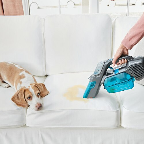Black and Decker - spillbuster Cordless Spill  Spot Cleaner with Scrub Brush and Extra Filter - BHSB315JF
