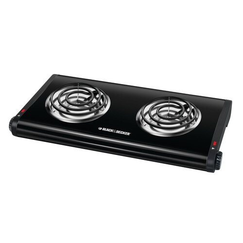 Black and Decker - Double Burner Portable Buffet Range - DB1002B