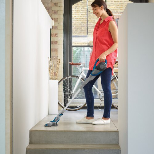 Black and Decker - Cordless Lithium 2IN1 Floor Extension Stick Vacuum Deep Ocean Blue - HFEJ415JWMF22