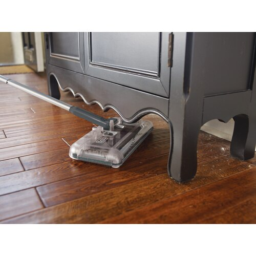 Black and Decker - 100 Minute Lithium Powered Floor Sweeper  Charcoal Grey - HFS215J01
