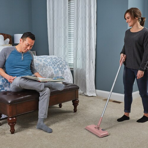 Black and Decker - Powered Floor Sweeper  Pearl Blush - HFS413J18