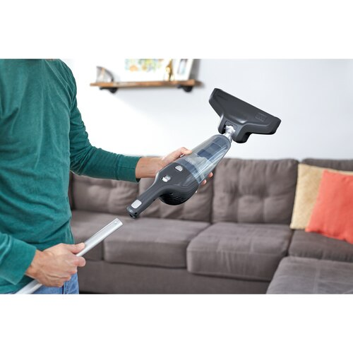 Black and Decker - 4in1 Dustbuster with Floor Extension Dark Tech Gray - HHS315J01