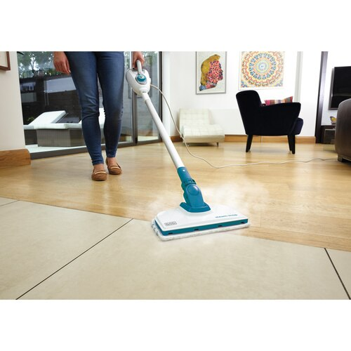 Black and Decker - 5IN1 STEAM MOP Floor Extension with SteamGlove Handheld Steamer - HSMC1300FX