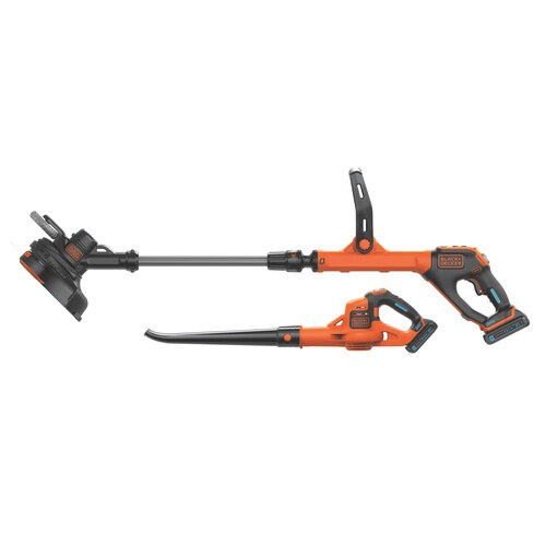Black and Decker - 20V MAX SMARTECH EASYFEED String Trimmer and POWERBOOST Sweeper Combo Kit - LCC520BT