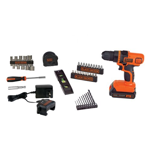 Black and Decker - 20V MAX Cordless Drill Tool Set with 44 Pieces - LDX50PK