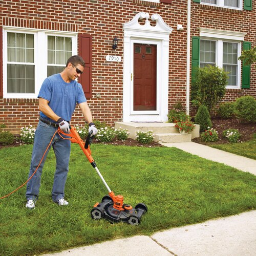 Black and Decker - 65 Amp 12 in Electric 3in1 Compact Mower - MTE912