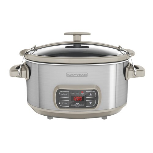 Black and Decker - 7Qt Locking Lid Digital Slow Cooker - SCD1007