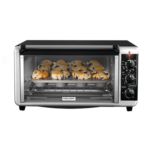 Black and Decker - ExtraWide 8Slice Toaster Oven - TO3250XSB