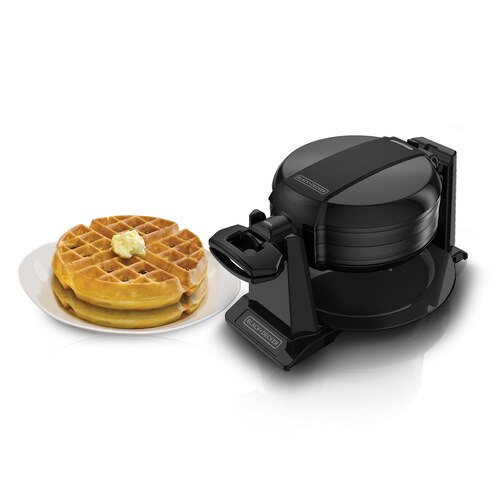 Black And Decker - Double Flip Waffle Maker - WMD200B